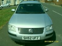 VW PASSAT ESTATE 2.0 cc PETROL..SILVER..FULL YEAR MOT