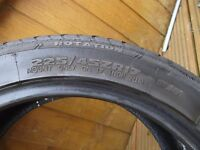 pair of part worn Avon ZZ 225x 45x 17 tyres