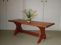 Large Coffee Table 4 ft long. Solid African hardwood (Iroko?)
