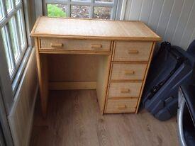 Rattan dressing table / desk