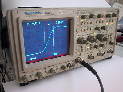 Calibrated Tektronix 2465a 350mhz Oscilloscope1 Yr Guaranty Available Extra