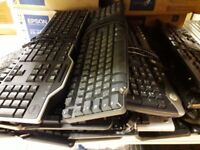 200x USB Keyboards Mix Brands Clean & 100% working Condition - Minimum Buy 25