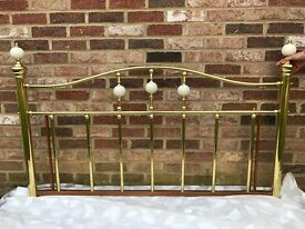 BEAUTIFUL 5' BRASS HEADBOARD, GREAT CONDITION, BARGAIN AT £28