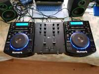 DJ Starter Set: Numark decks, mixer and headphones