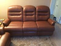 Sherbourne British Locally made leather 3 piece suite reasonable offers considered