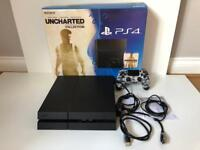 PlayStation 4 PS4 console. Black 500gb. Fully boxed.