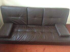 Leather sofabed for sale