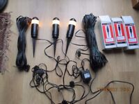 Garden low voltage lighting set.