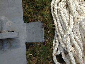 Anchor and 20 meter chain