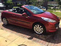 2007 PEUGEOT 207CC 1.6 GT CONVERTIBLE FULL LEATHER LOW MILEAGE
