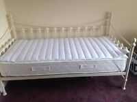 Single bed/ day bed/ complete with sprung mattress excellent condition