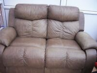 Two Seater Sofa in Tortoise Leather