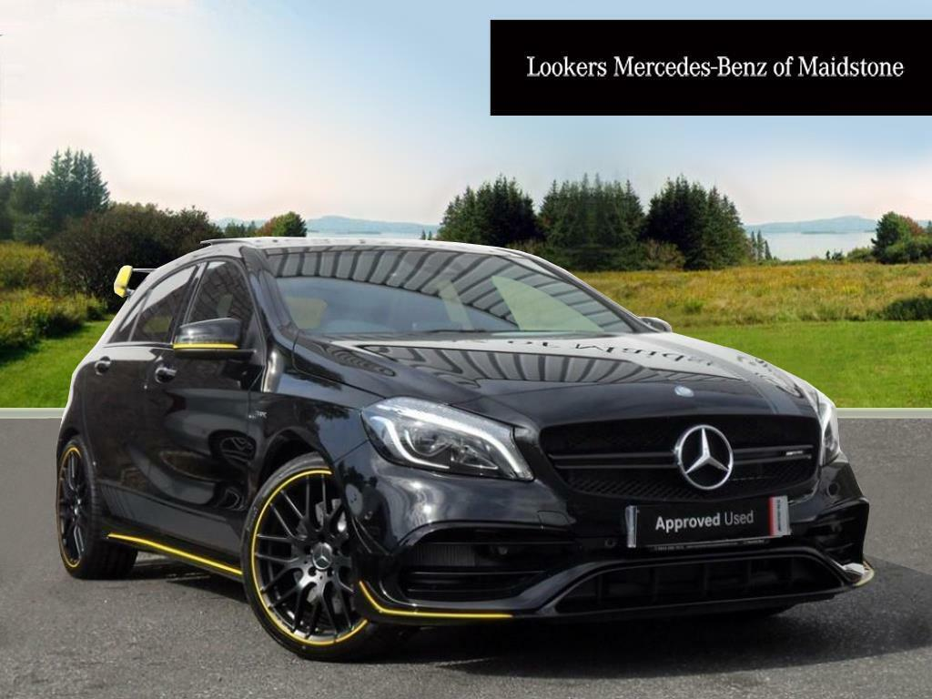 mercedes benz a class amg a 45 4matic yellow night edition black 2017 07 12 in maidstone. Black Bedroom Furniture Sets. Home Design Ideas