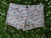 Pink Denim Shorts UK 6