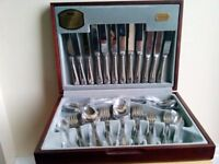 Viners 44 piece canteen of cutlery in box.