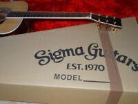 Sigma DM-4 acoustic guitar ecellent unmarked condition
