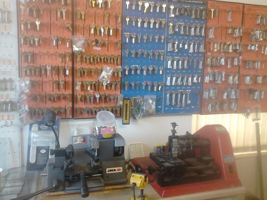 Key cutting machines, Key blanks