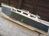 vintage model boat with garrad clockwork motor