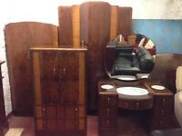 Stunning Late 1940's Full Matching Bedroom Suite