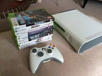 Microsoft XBox 360 Pro 60GB White Console Bundle (11 Games)