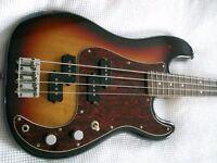 Fender Japanese Vintage JV Squier '62 precision electric bass guitar - Japan - '80s - 3-col 'burst