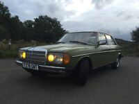 Classic LHD Mercedes - Benz W123 200D immaculate condition Diesel manual