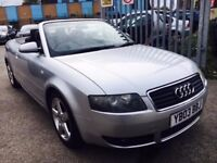 AUDI A4 CABRIOLET 1.8 T SPORT PETROL MANUAL 2003 AIR CON 2 OWNER FULL HISTORY