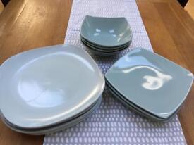 M&S Andante bowls & side plates, Tesco dinner plates.