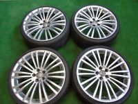 "R32 STYLE 19"" ALLOY WHEELS TO FIT AUDI TT 5 x 100 WITH TYRES"