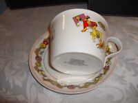 The Simpsons cup & saucer/cereal bowl