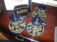 hand made in greece 24k gold coffee set