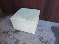 Light Green Fabric Covered Ottoman Deliver Available £7.50