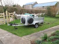 A brilliant and galvanised car trailer.
