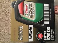 case of motor oil castrol 5w-30 unopened