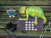 Khama Chameleon Novelty telephone....Vintage late-80's
