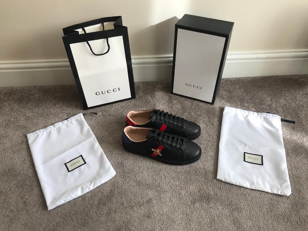 0e46189a1024 Gucci Ace Bee Trainers Black Size 10 | in Southall, London | Gumtree