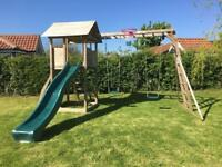 Climbing frame with swings/slide/castle. THIS HAS BEEN SOLD