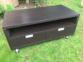 TV trolley from Ikea with 2 drawers, black.