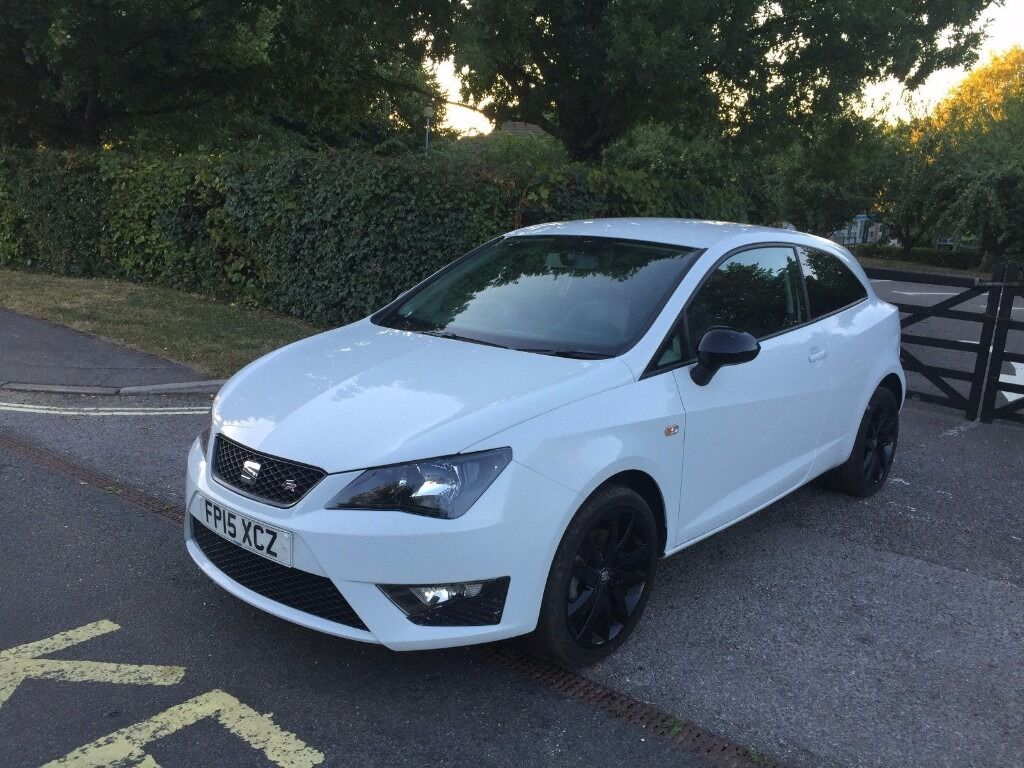 2015 seat ibiza fr tsi 1 4 white black edition cat d 18 000 miles only excellent condition in. Black Bedroom Furniture Sets. Home Design Ideas
