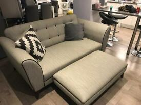 Grey sofa great condition with foot stall