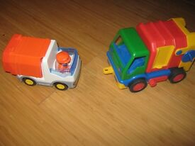 Trucks for sale. Recycling truck (Play mobile) and Dustbin lorry. Happy to sell separately.