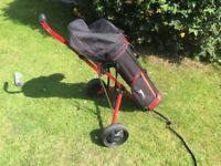 Kids golf bag and trolley for sale
