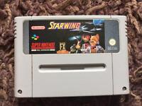 Snes starwing Nintendo game