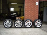 Alfa Romeo GTV 16 inch 5 Stud Alloy Wheels (2 Good Tyres) - May fit other Alfa's
