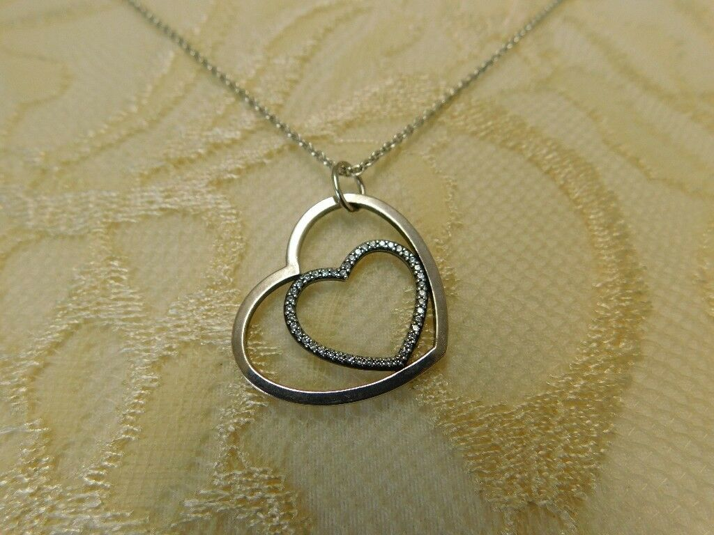 Pandora forever in my heart silver necklace