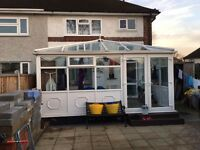 UPVC /glass extention conservatory. This item is in very good condition and it is 5m/3m