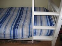 3ft wooden bunk beds complete with mattresses..only used four times from new
