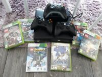 Xbox 360 console with 3 remote and games