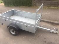 Caddy 5x3 Galvanised Trailer + ladder rack/drop tailboard