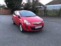 Vauxhall Corsa 1.2 Petrol 2014 Mileage only 41467 & leather interior fully loaded Edition